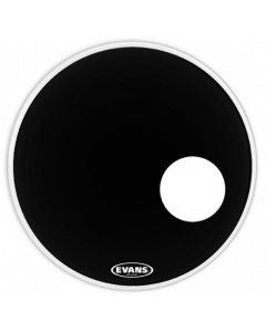 "Evans BD22RB EQ3 Black 22"" Resonant Bass Drum Head BD22RBG"