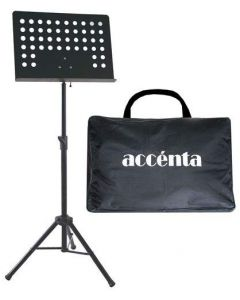 Accenta MUS-1B Heavy-Duty Pro Conductor Music Stand with Carrying Case