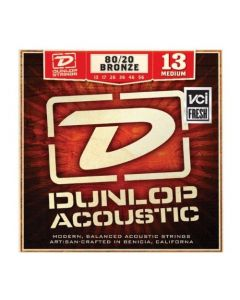 Dunlop DAB1356 Acoustic 80/20 Bronze Guitar Strings, Medium, .013–.056, 6 Strings Set