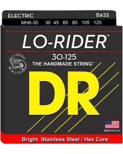 DR Strings Lo-Rider MH6-30 Medium Stainless Steel 6-String Bass Guitar Strings .125 Low B