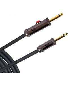 Planet Waves Circuit Breaker 15 ft Instrument Cable with Latching Cut-Off Switch, Straight Plug, PW-AGL-15