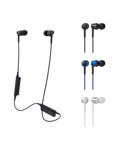 Audio-Technica ATH-CKR35BT Sound Reality Wireless in-Ear Headphones with Mic, Blue