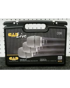 Cad Audio D38x3 Supercardioid Dynamic Instrument Microphone (3 Pack)