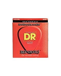 DR Strings Red Devils - Extra-Life Red Coated 5 String Bass 45-125