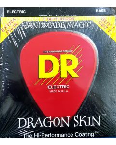 DR Strings DSB2-45 Dragon Skin Coated Medium 5-String Bass Strings - 2 pack