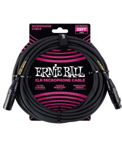 Ernie Ball Microphone Cable, Black, 25 ft