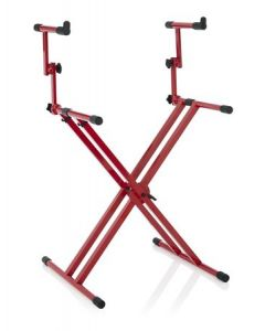 Gator Frameworks Gfw-key-5100xred Deluxe Two Tier X Style Keyboard Stand