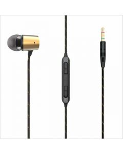 Marley Uplift 2 Wired Headphones with a Microphone, Brass