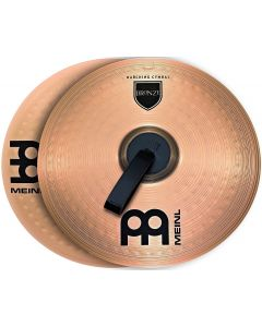 MEINL MA-BO-16m Bronze 16-inch Marching Cymbal Pair With Straps