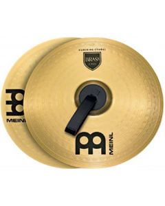 MEINL MA-BR-13m Brass 13-inch Marching Cymbal Pair With Straps