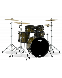 PDP Concept LTD - Olive Stain Lacquer with Black Hardware PDLT2215GB  & Zildjian S Cymbal Set