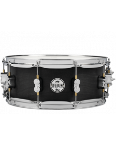 """PDP Concept Series 5.5x14"""" All-Maple Black Wax Snare with Chrome Hardware"""